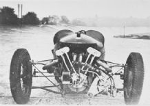 "Morgan 3 wheeler Henry Laird's ""RED""at Brooklands 1935"